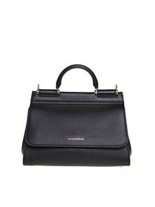 Dolce & Gabbana - Sicily Soft small bag in black
