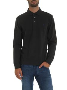 POLO Ralph Lauren - Dark grey polo shirt with logo embroidery