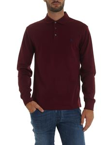 POLO Ralph Lauren - Burgundy polo shirt with logo embroidery