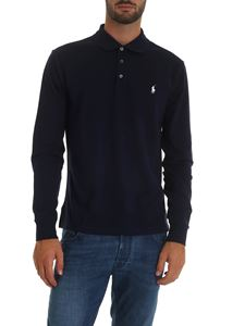 POLO Ralph Lauren - Blue polo shirt with logo embroidery