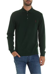 POLO Ralph Lauren - Long sleeve polo shirt in gree