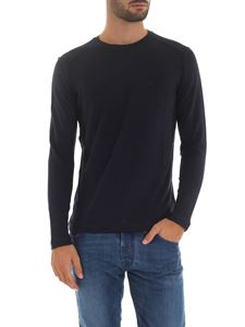 Dondup - Blue long sleeve crew-neck t-shirt