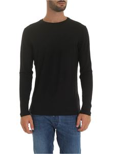 Dondup - Long sleeve crew-neck t-shirt in black