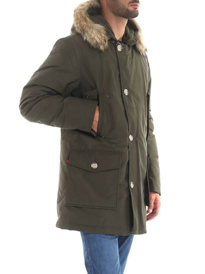 Woolrich Fall Winter 19 20 Arctic Parka Df Down Jacket In Army Green Color Wocps2880 Ut0108 Dag