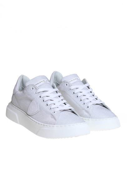 Philippe Model - Temple sneakers in silver lurex