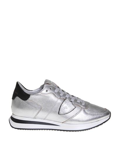 Philippe Model - Trpx sneakers in silver leather