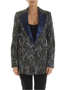Semicouture - Lamé jacquard jacket with geometric pattern