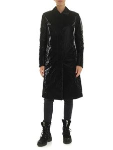 Aspesi - Velvet-effect overcoat in black