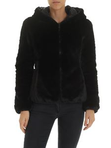 Save the duck - Padded eco fur in black
