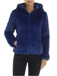 Save the duck - Padded eco-fur in electric blue