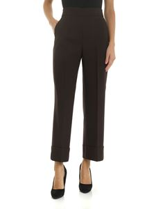 Incotex - Turned-up trousers in brown