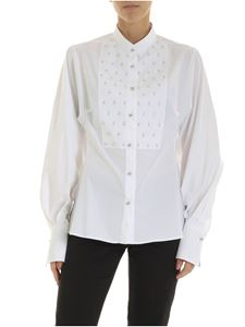 Ermanno Scervino - Shirt with a rhinestone in white