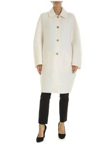 Ermanno Scervino - Single-breasted coat in white