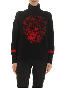 Ermanno Scervino - Red embroidered pullove in black