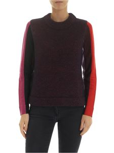 PS by Paul Smith - Pullover in melange purple with lurex sleeves