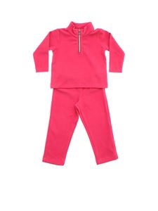 Moncler Jr - Sweatshirt and trouser suit in fuchsia