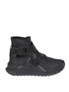 Balmain - B-Troop sneakers in black stretch fabric