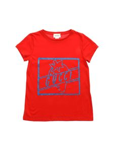 Gucci - Glitter printed T-shirt in red