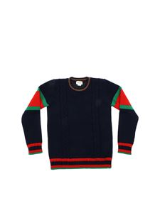 Gucci - Braided pullover in blue