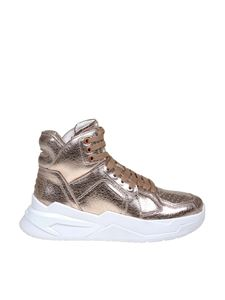 Balmain - B-Ball sneakers in pink laminated leather