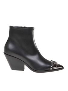 Casadei - Agyness Texans boots in black leather