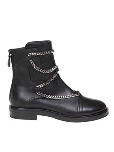 Casadei - Zoe bikers in black leather