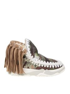Mou - Eskimo Trainer Fringed sneakers with sequins