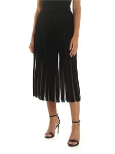 Balmain - Black and transparent pleated skirt