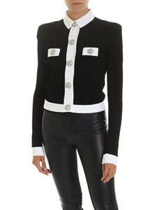 Balmain - Black jacket with white edges