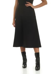 Stella McCartney - Gonna midi nera svasata