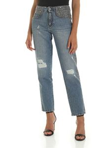 Ermanno Scervino - Light blue jeans with wool and rhinestone details