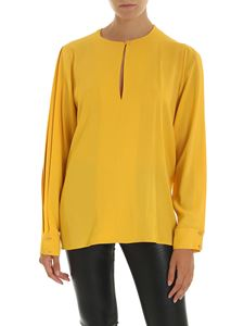 Stella McCartney - Blusa in crepe sablè gialla