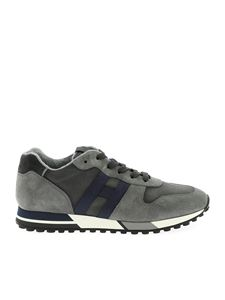 Hogan - Sneakers H383 Retro-Running grigie