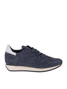 Philippe Model - Monaco sneakers in dark blue nubuck