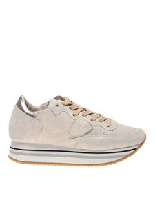 Philippe Model - Tropez sneakers in gold color