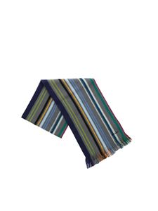 Paul Smith - Sciarpa a righe multicolor