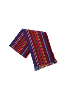 Paul Smith - Striped scarf in shades of purple