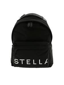 Stella McCartney - Black backpack with multicolor shoulder straps