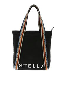 Stella McCartney - Zip Tote medium bag in black with logo