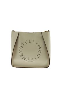Stella McCartney - Stella Logo shoulder bag in ivory color