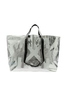 Off-White - Borsa Tote New Commercial argentata