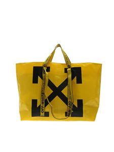 Off-White - Borsa Tote New Commercial gialla
