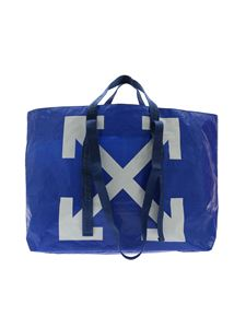 Off-White - Borsa Tote New Commercial blu elettrico