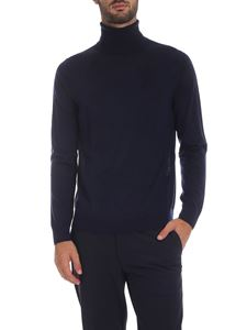 Paul Smith - Dark blue turtleneck with multicolor detail