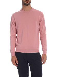Paul Smith - Pink crew-neck pullover with multicolor detail