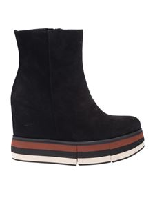 Paloma Barceló - Ankle boot in black with inner wedge and platform