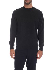 Paul Smith - Anthracite crew-neck pullover with multicolor detail