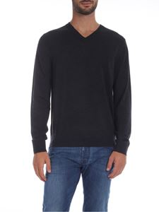 Paul Smith - V-neck pullover in anthracite color