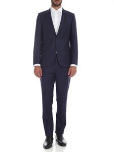Paul Smith - Houndstooth two-button suit in blue