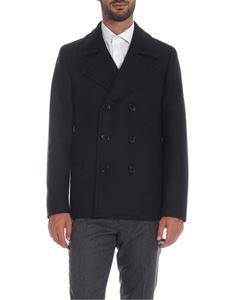 PS by Paul Smith - Double-breasted coat in dark blue